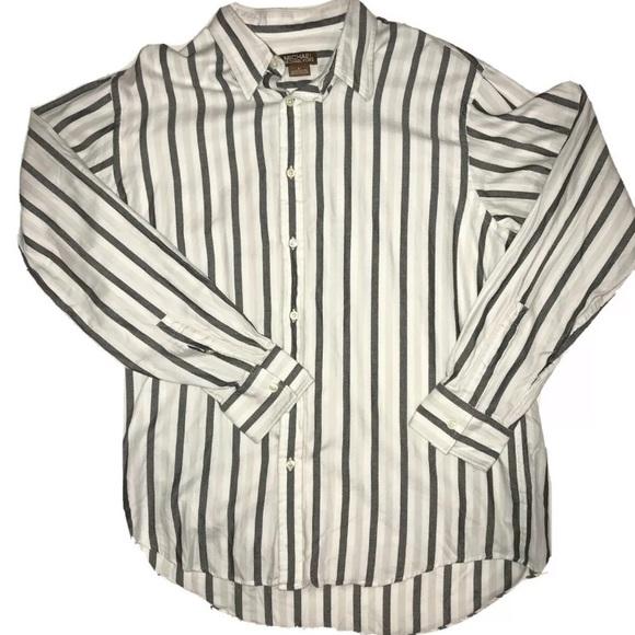 Michael Kors Stripped Button Down Shirt Size L